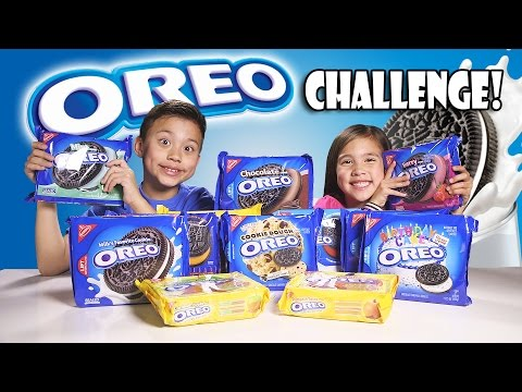 OREO CHALLENGE!!! The Blindfold Cookie Tasting Game Show!