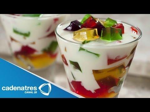 Receta para preparar gelatinas. Cocinando con Raúl Traslosheros / Receta de postres