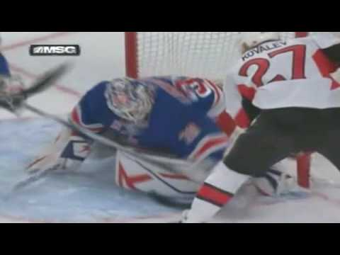Henrik Lundqvist robs Alexei Kovalev [Jan 14th, 2010] Video