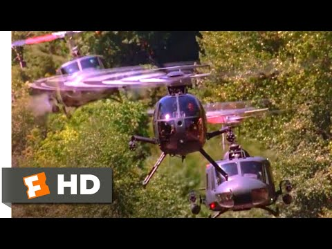 Outbreak (1995) - Helicopter Chase Scene (5/6) | Movieclips