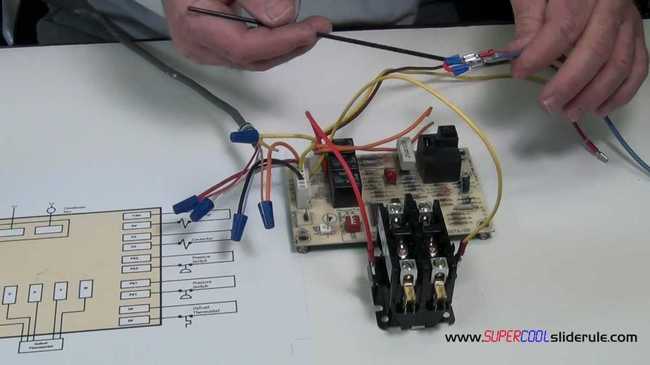 how to bypass a defrost heat pump board to allow cooling