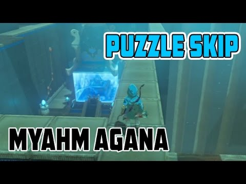 Zelda Breath of the Wild Myahm Agana Apparatus Shrine Puzzle Skip
