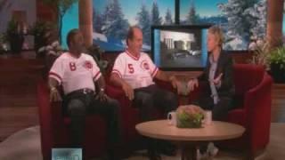 Joe Morgan & Johnny Bench From Cincinnati Reds On Ellen Show 1/19/2009