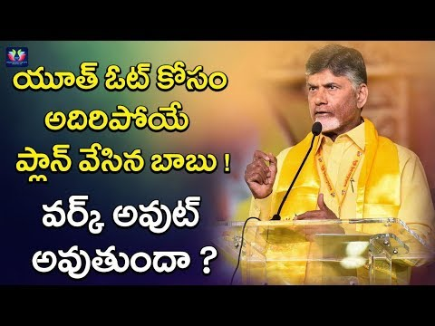 Chandrababu Naidu Prepare Master Plan To Attract Youth Vote Bank | 2019Assembly Elections | TFC News