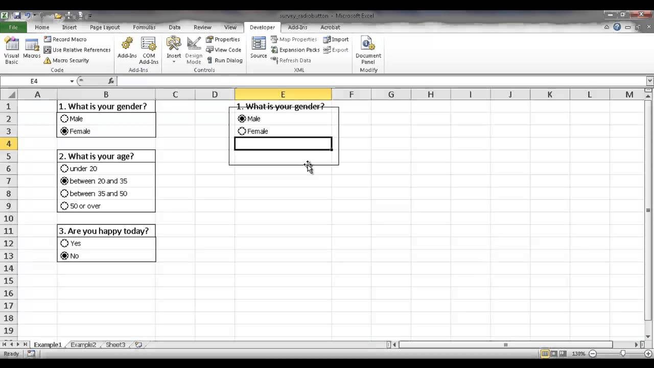 Create Template In Excel