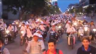 Phnom Penh CNRP Electoral procession with Kem Sokha, 02 June 2017