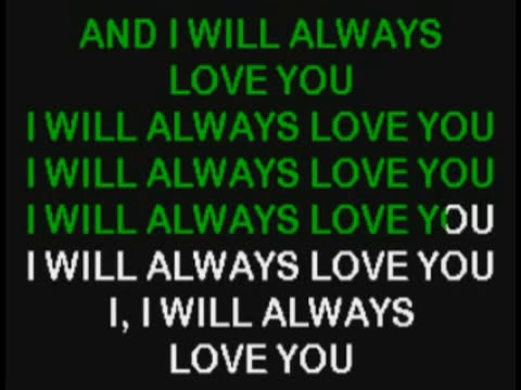 Whitney Houston I Will Always Love You Karaoke