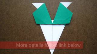 How To Fold Origami Oriental Radish - Origamiinstruction.com