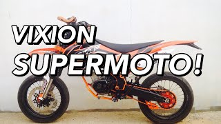 Yamaha Vixion 2015 custom to KTM Supermoto