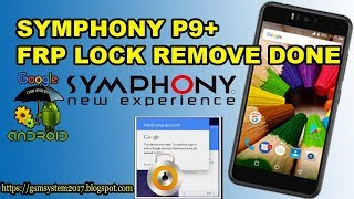 SYMPHONY P9 PLUS FRP LOCK REMOVE DONE