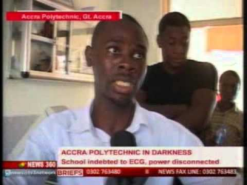 """News360 - Accra Poly students embark on """"demo"""" over payment of utiltiy bills  -22/10/2015"""