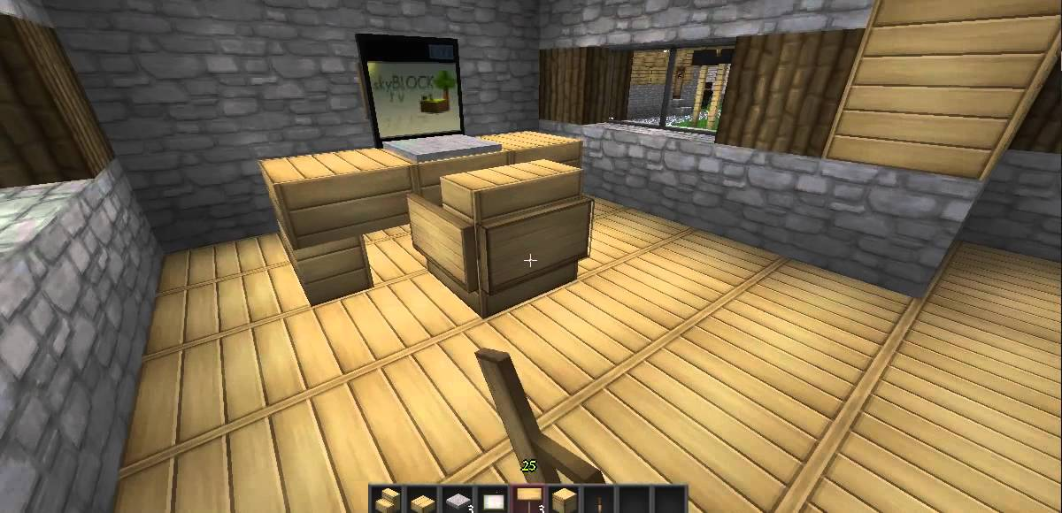 How To Make A Laptop Desk In Minecraft Youtube