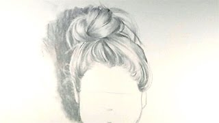 How to Draw Hair in a Bun