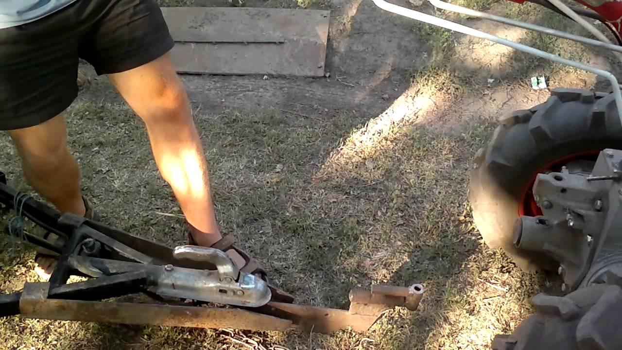 Как сделать прицепное устройство к тележке мотоблока 551
