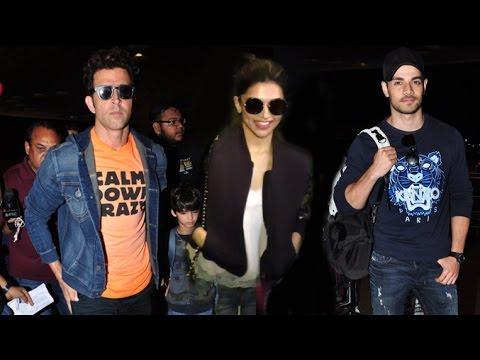 Airport Spotting 20th June 2016 | Hrithik Roshan, Deepika Padukone, Eli Avram, Anil Kapoor