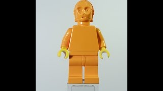 Lego Star Wars C-3PO Official Orange prototype test from 1999 360° view sh010a