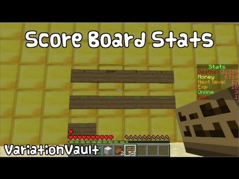 Minecraft Bukkit Plugin - ScoreBoard Stats - Stats on screen