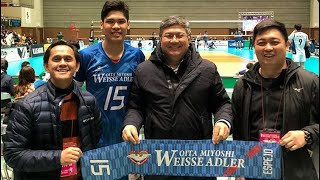 Coach Oliver Almadro BEING SUPPORTIVE to Marck Espejo 💙🇯🇵 visiting and watching his game in JAPAN