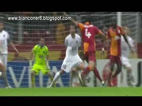 Felipe Melo quick and thoughtful great pass Vs Cluj - Bianconer8 (Beach Soccer Style)