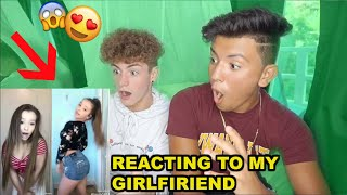 REACTING TO MY GIRLFRIENDS MUSICALLYS W/ WILLYTUBE!!