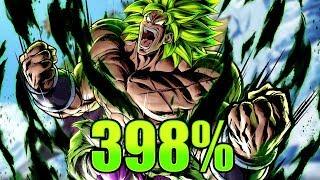 Sparking Super Saiyan Broly 398% Showcase    Dragon Ball Legends