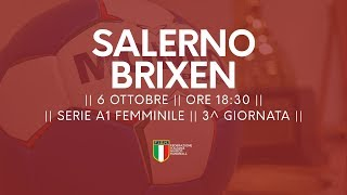 Serie A1F [3^ giornata]: Salerno - Brixen 19-19