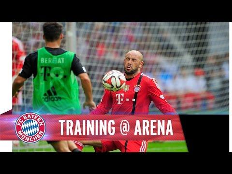 Training at Allianz Arena