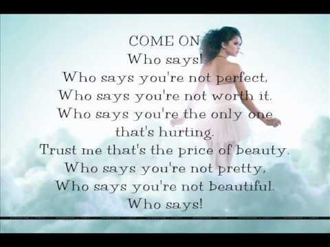 Selena Gomez & The Scene - Who Says - Текст Песни