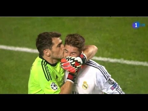 This is how Iker Casillas thanked Sergio Ramos for scoring a late equalizer