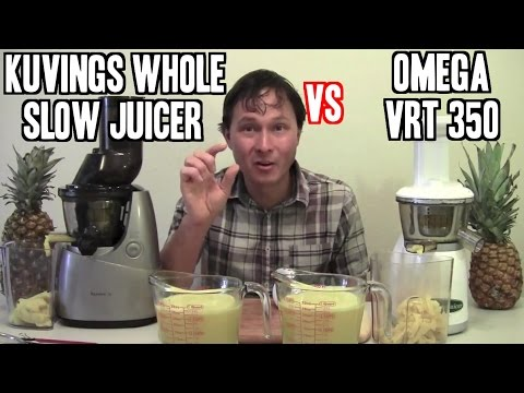 Whole Slow Juicer Review : Kuvings Whole Slow Juicer vs Omega vRT 350 Comparison Review - YouTube