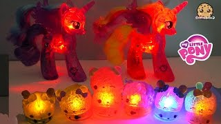 My Little Pony Baby Flurry Heart + Glowing MLP + Surprise Num Noms Lights Blind Bags