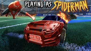 *OMG* PLAYING AS 'SPIDER-MAN' IN ROCKET LEAGUE!! CHARACTER CARS!! (EP. 3)