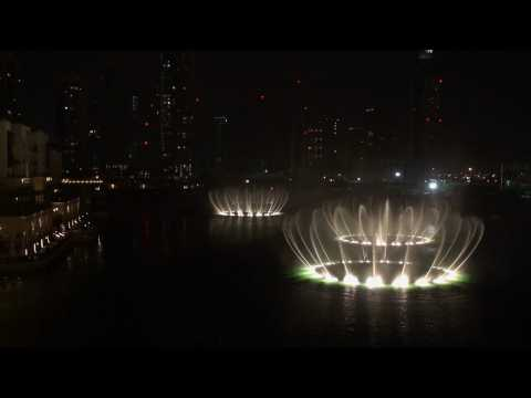 The Dubai Fountain - Baba Yetu video