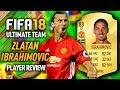 FIFA 18 ZLATAN IBRAHIMOVIC (88) PLAYER REVIEW! FIFA 18 ULTIMATE TEAM!
