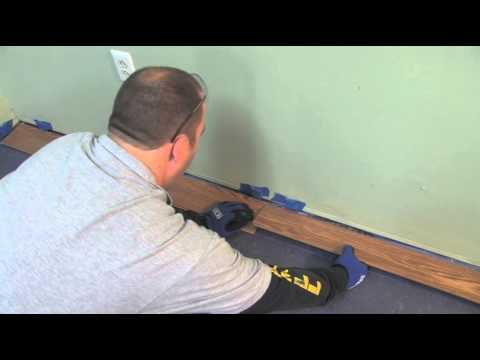 Flooring 101: How to Install Laminate Flooring (Lock & Fold Method)   Lumber Liquidators