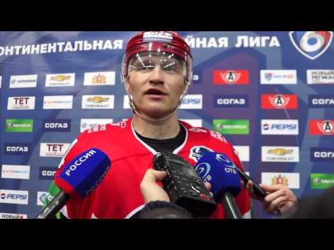 Интервью после матча Автомобилист-Барыс 1-2 Анатолий Голышев и  Алексей Симаков