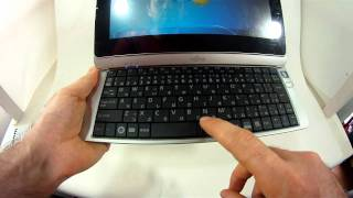 Fujitsu Lifebook TH40/D Tablet Hybrid convertible transformer Hands On Review English netbook