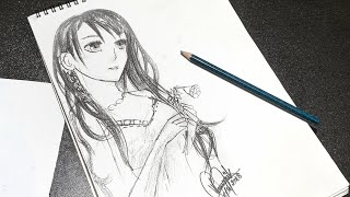 Anime Girl Drawing Timelapse | Speed Drawing