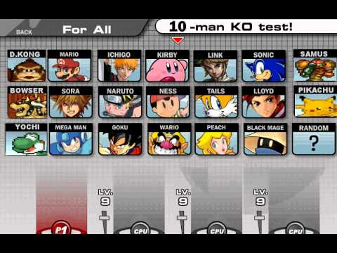 super smash flash v0.8 personnages