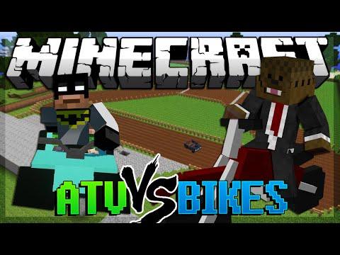Minecraft Dirt Bike Mod Vs ATV Mod Mod Battles