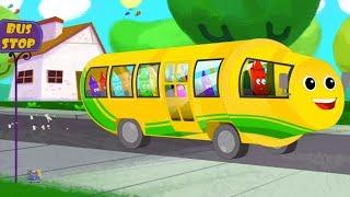 bánh xe trên xe buýt | Bộ sưu tập vần điệu trẻ | The Wheels on the Bus | Rhyme for Kids