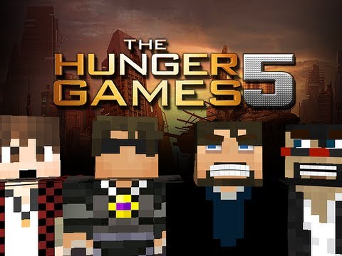 Minecraft Hunger Games 5 with YouTubers! Round 3 - REVENGE!!!!!