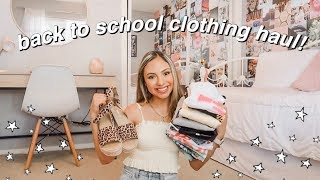 BACK TO SCHOOL TRY ON CLOTHING HAUL + Giveaway! 2019