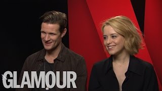 Netflix Cast of The Crown Matt Smith and Claire Foy talk Royals and The Crown | Glamour UK