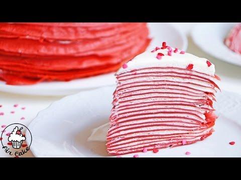 Красный бархат БЛИННЫЙ ТОРТ  ❤ рецепт к 14 февраля День Святого Валентина