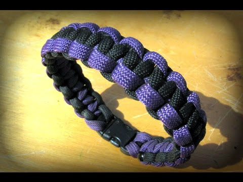paracord armband kn pfen zweifarbig anleitung bracelet. Black Bedroom Furniture Sets. Home Design Ideas