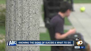 Knowing the signs of suicide