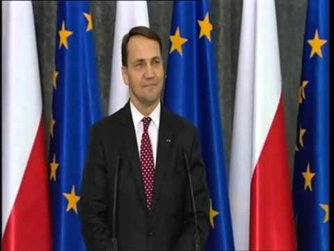 Radosław Sikorski na konferencji: Nie ma nagrania Tusk-Putin