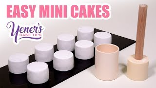 How to Make EASY MINI CAKES Tutorial | Yeners Cake Tips by Serdar Yener from Yeners Way