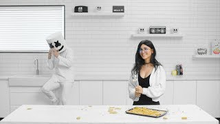 SSSniperWolf & Marshmello Make Fortnite Sunbeam Crystal Pop Rocks | Cooking with Marshmello